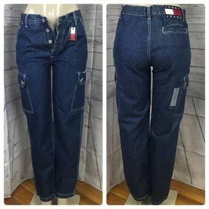 Vtg Cargo Tommy Hilfiger High Waist Mom Jeans Sz 7